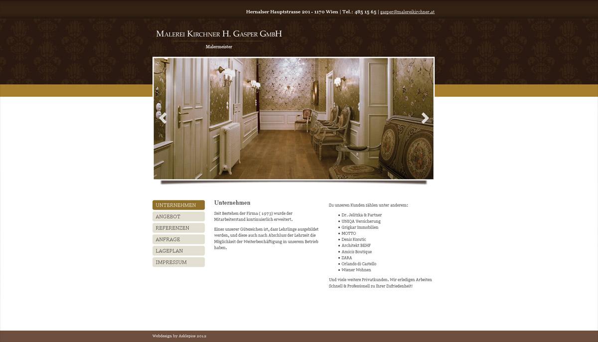 Homepageerstellung für Glaserei