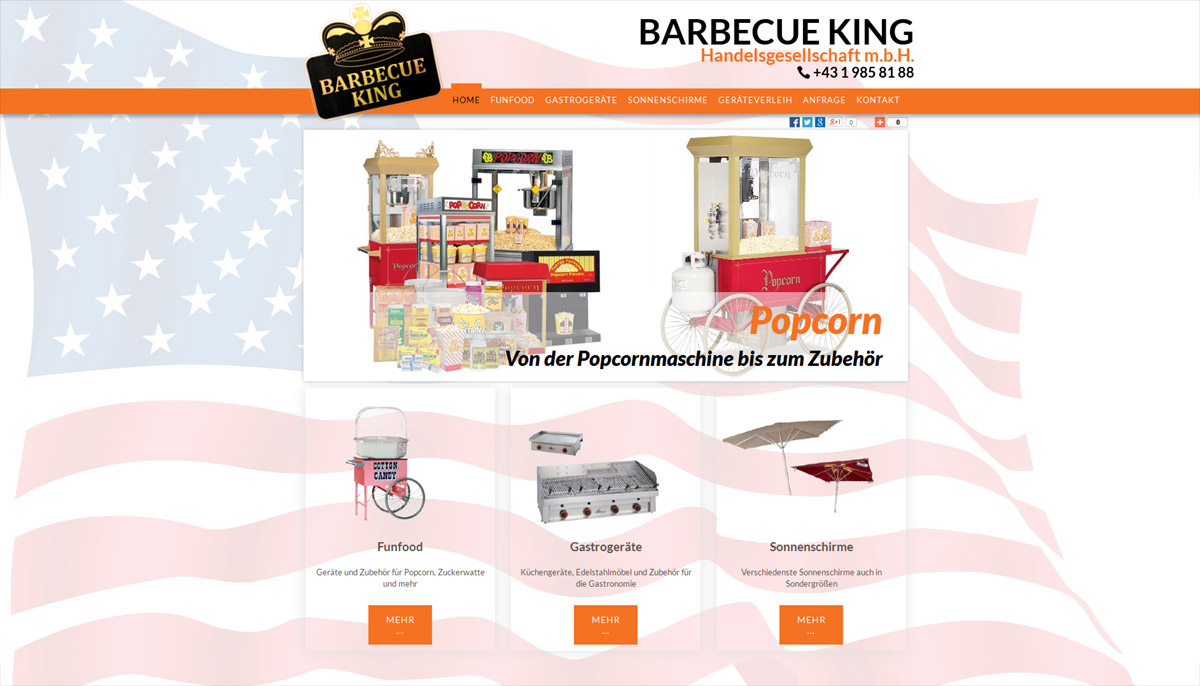 Homepageerstellung für Barbecue King