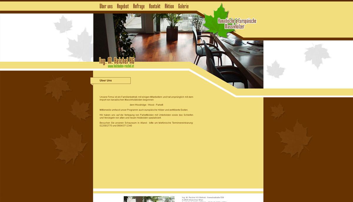 Homepageerstellung für Holzboden-Betrieb